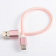 USB 2.0 / Tipo-C Cabo <1m / 3ft Entrançado Náilon Adaptador de cabo USB Para Samsung / Huawei / LG