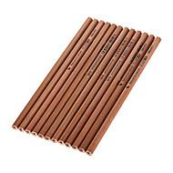 お買い得  ペン/鉛筆-12個の木黒インク鉛筆HB 1セット