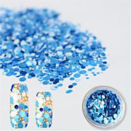 1 bottle アートステッカーネイル グリッター素材 & パウダー メイクアップ化粧品 ネイルアートデザイン