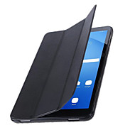 For Samsung Tab A 10.1 (2016) with Stand Auto Sleep/Wake Flip Origami Case Full Body Case Solid Color Hard PU Leather