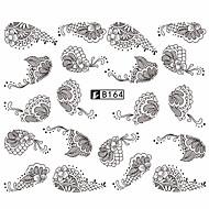 5pcs Black Lace Stickers +5pcs White Lace Stickers 아트 스티커 네일 물 전송 데칼 레이스 스티커 메이크업 화장품 아트 디자인 네일