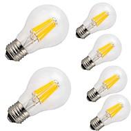 Χαμηλού Κόστους LEDΛάμπες με Νήμα Πυράκτωσης-6pcs 9 W 1100 lm E26/E27 LED Λάμπες Πυράκτωσης A60(A19) 12 leds COB Διακοσμητικό Θερμό Λευκό Ψυχρό Λευκό AC 220-240 V