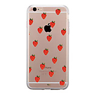 Недорогие Кейсы для iPhone 8 Plus-Кейс для Назначение Apple iPhone X / iPhone 8 / iPhone 8 Plus Прозрачный / С узором Кейс на заднюю панель Фрукты Мягкий ТПУ для iPhone X / iPhone 8 Pluss / iPhone 8