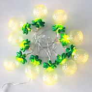 Χαμηλού Κόστους LED Φωτολωρίδες-1pcs 5v 1.2m 10 leds ζεστό λευκό διακοσμήσεις διακοπών διακοσμητικά οδήγησε φώτα σειρά