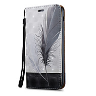 Недорогие Чехлы и кейсы для Galaxy A7(2017)-Кейс для Назначение SSamsung Galaxy A5(2017) A3(2017) Бумажник для карт со стендом Флип С узором Магнитный Чехол  Перья Твердый