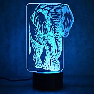 olcso LED éjszakai világítás-1 db 3D éjszakai fény Többszínű USB Érzékelő Tompítható Vízálló Színváltós