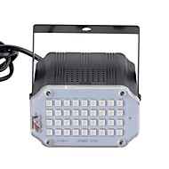 お買い得  -U'King 10W LEDステージライト 調整可 取り付けやすい 音検知 レッド ブルー グリーン AC110-240