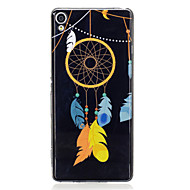voordelige Mobiele telefoonhoesjes-hoesje Voor Sony Sony Xperia XA Glow in the dark IMD Patroon Achterkant Dromenvanger Zacht TPU voor Sony Xperia XA Sony