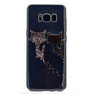 Для Прозрачный С узором Кейс для Задняя крышка Кейс для Кот Мягкий TPU для Samsung S8 S8 Plus