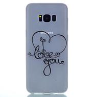 halpa Galaxy S6 Edge Plus kotelot / kuoret-Etui Käyttötarkoitus Samsung Galaxy S8 Plus S8 Hehkuu pimeässä Himmeä Läpinäkyvä Kuvio Takakuori Sydän Pehmeä TPU varten S8 S8 Plus S7