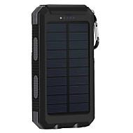 Недорогие Портативные аккумуляторы-8000mAhPower Bank Внешняя батарея Зарядка от солнца Несколько разъемов Подсветка 8000 2000 Зарядка от солнца Несколько разъемов Подсветка
