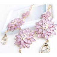 Жен. Ожерелья с подвесками Multi-камень В форме цветка Синтетические драгоценные камни Цветочный дизайн Цветы Цветочный принт Мода