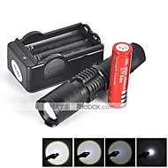 voordelige Zaklampenkits-5 LED-Zaklampen LED 1800 lm 5 Modus Cree XM-L T6 inklusive Batterie und Ladegerät Zoombare Mini Schokbestendig Oplaadbaar Waterbestendig