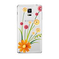Для Прозрачный С узором Кейс для Задняя крышка Кейс для Цветы Мягкий TPU для Samsung Note 5 Note 4 Note 3 Note 2