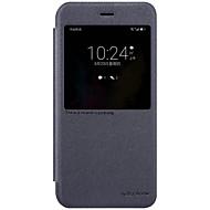 Недорогие Чехлы и кейсы для Huawei Honor-Кейс для Назначение Huawei с окошком С функцией автовывода из режима сна Флип Матовое Чехол Сплошной цвет Твердый Кожа PU для Honor V9