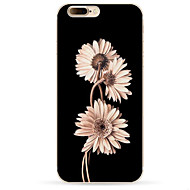 Недорогие Кейсы для iPhone 8 Plus-Кейс для Назначение Apple iPhone X iPhone 8 iPhone 8 Plus С узором Кейс на заднюю панель Цветы Мягкий ТПУ для iPhone X iPhone 8 Pluss