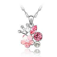 Жен. Ожерелья с подвесками Кристалл В форме цветка Цветочный дизайн Цветы Цветочный принт По заказу покупателя Симпатичные Стиль