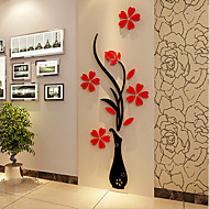 abordables Adhesivos Decorativos-Navidad Romance Florales Pegatinas de pared Calcomanías 3D para Pared Calcomanías Decorativas de Pared,Vinilo Material Decoración hogareña