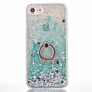 Недорогие Кейсы для iPhone 8 Plus-Кейс для Назначение Apple iPhone X iPhone 8 iPhone 8 Plus Движущаяся жидкость Кольца-держатели Кейс на заднюю панель Сплошной цвет Твердый