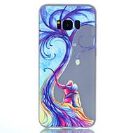 voordelige Galaxy S6 Edge Plus Hoesjes / covers-hoesje Voor Samsung Galaxy S8 Plus S8 Glow in the dark Mat Doorzichtig Patroon Achterkantje Boom Zacht TPU voor S8 S8 Plus S7 edge S7 S6