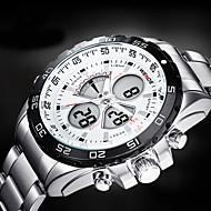 WEIDE Muškarci Ručni satovi s mehanizmom za navijanje Kvarc Japanski kvarc LCD Kalendar Kronograf Vodootpornost Sat s dvije vremenske