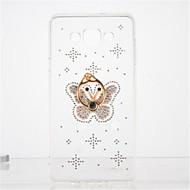 Для Стразы Кольца-держатели Прозрачный Своими руками Кейс для Задняя крышка Кейс для Бабочка Мягкий TPU для Samsung A7