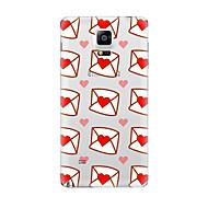 Для Прозрачный С узором Кейс для Задняя крышка Кейс для С сердцем Мягкий TPU для Samsung Note 5 Note 4 Note 3 Note 2