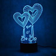 billige Originale LED-lamper-1 stk 3D natlys Mangefarvet Usb Sensor Dæmpbar Vandtæt Farveskiftende