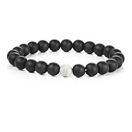 cheap Jewelry & Watches-Men's Strand Bracelet - Gold Plated Natural, Fashion Bracelet White / Black For Gift / Sports