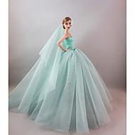 abordables -Fiesta/Noche Vestidos por Muñeca Barbie  por Chica de muñeca de juguete