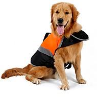abordables Accesorios y Ropa para Gatos-Gato Perro Impermeable Chaleco Chaleco salvavidas Ropa para Perro Un Color Naranja Verde Algodón Terileno Disfraz Para mascotas Hombre