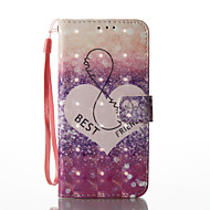 Недорогие Чехлы и кейсы для Galaxy S8-Кейс для Назначение SSamsung Galaxy S8 Plus S8 Бумажник для карт Кошелек со стендом Флип С узором Чехол Слова / выражения Твердый Кожа PU