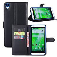 お買い得  携帯電話ケース-ケース 用途 HTC One HTC M8 HTC HTCの欲望826 HTCの欲望630 HTC M9 HTC Desire 820 カードホルダー ウォレット 耐衝撃 スタンド付き フルボディーケース 純色 ハード PUレザー のために HTC One X9 HTC