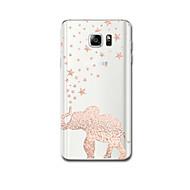 Для Чехлы панели Ультратонкий С узором Задняя крышка Кейс для Слон Мягкий TPU для Samsung Note 5 Note 4 Note 3