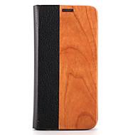 Кейс для Назначение SSamsung Galaxy S7 edge S7 Бумажник для карт со стендом Флип Магнитный Чехол Сплошной цвет Твердый Дерево для S7 edge