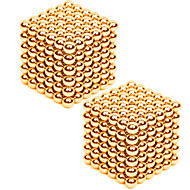 cheap Toys & Hobbies-2*216PCS 3mm Same Color Gold&Silver DIY Neodymium Magnetic Balls Buck Ball Spheres Beads Magic Cube Magnets Puzzle Toy(within 1 Box  2 Color Choose)