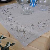 Cuadrado Bordado Forros de Mesa , Lino MaterialHotel Dining Tabla Decoración del banquete de boda Cena banquete de la boda Decoración de