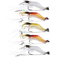 お買い得  釣り用アクセサリー-5 pcs ソフトベイト / 釣りフック / ルアー ソフトベイト / Jerkbaits / エビ ソフトプラスチック / シリコン 海釣り / フライフィッシング / ベイトキャスティング / スピニング / ジギング / 川釣り / 鯉釣り / バス釣り