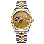 Tevise Муж. Нарядные часы Модные часы Механические часы Календарь Защита от влаги Светящийся Имитация Алмазный Нержавеющая сталь Группа