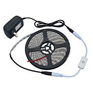 お買い得  -JIAWEN 5m ライトセット 300 LED 5050 SMD 温白色 / ホワイト カット可能 / 調光可能 / 防水 110-220 V