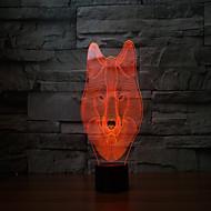 Недорогие Интеллектуальные огни-Новые 2017 волков 3 d лампа 7 цвет сенсорный аккумуляторные светодиодные лампы проекционного света сенсорные лампы
