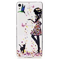 For Sony Xperia XA M2 Case Cover Girl Pattern Painted High Penetration TPU Material IMD Process Soft Case Phone Case