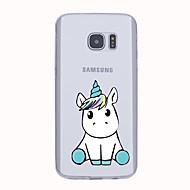 Для Чехлы панели Ультратонкий С узором Задняя крышка Кейс для единорогом Мягкий TPU для Samsung S6 edge plus S6 edge S6 S5