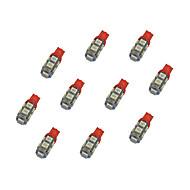 hesapli -10pcs t10 9 * 5050 smd led araba ampul bule ışık dc12v