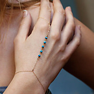 Damen Ketten- & Glieder-Armbänder Ring-Armbänder Schmuck Böhmen-Art Handgemacht Türkis Aleación Kreisform Gold Silber Schmuck Für