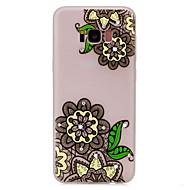 Для Стразы Сияние в темноте С узором Кейс для Задняя крышка Кейс для Кружевной дизайн Цветы Мягкий TPU для Samsung S8 S8 Plus S7 edge S7