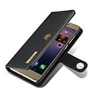 Для huawei p8 lite (2017) чехол для футляра для карточек кошелек с подставкой флип магнитный полный корпус сплошной цвет твердый