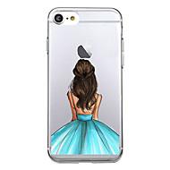 Назначение iPhone X iPhone 8 Чехлы панели Ультратонкий Задняя крышка Кейс для Соблазнительная девушка Мягкий Термопластик для Apple