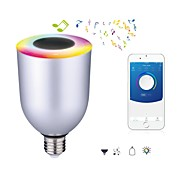 7W E26/E27 LED Έξυπνες Λάμπες 12 SMD 5050 550-600 lm Ψυχρό Λευκό RGB 6000 κ Bluetooth Με ροοστάτη AC 100-240 V