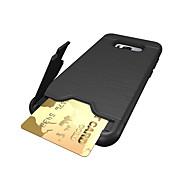 Кейс для Назначение SSamsung Galaxy S8 Plus S8 Бумажник для карт Защита от удара Задняя крышка Сплошной цвет Твердый PC для S8 S8 Plus